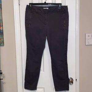 🌺 Ann Taylor Loft Marisa Gray Trousers, Size 12